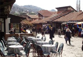 Bascarsija outdoor cafe