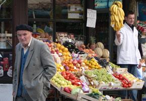 Fresh produce in Sarajevo