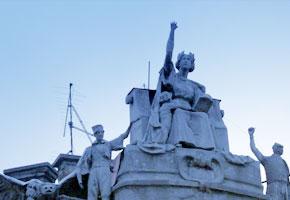 Rooftop Statues in Sarajevo